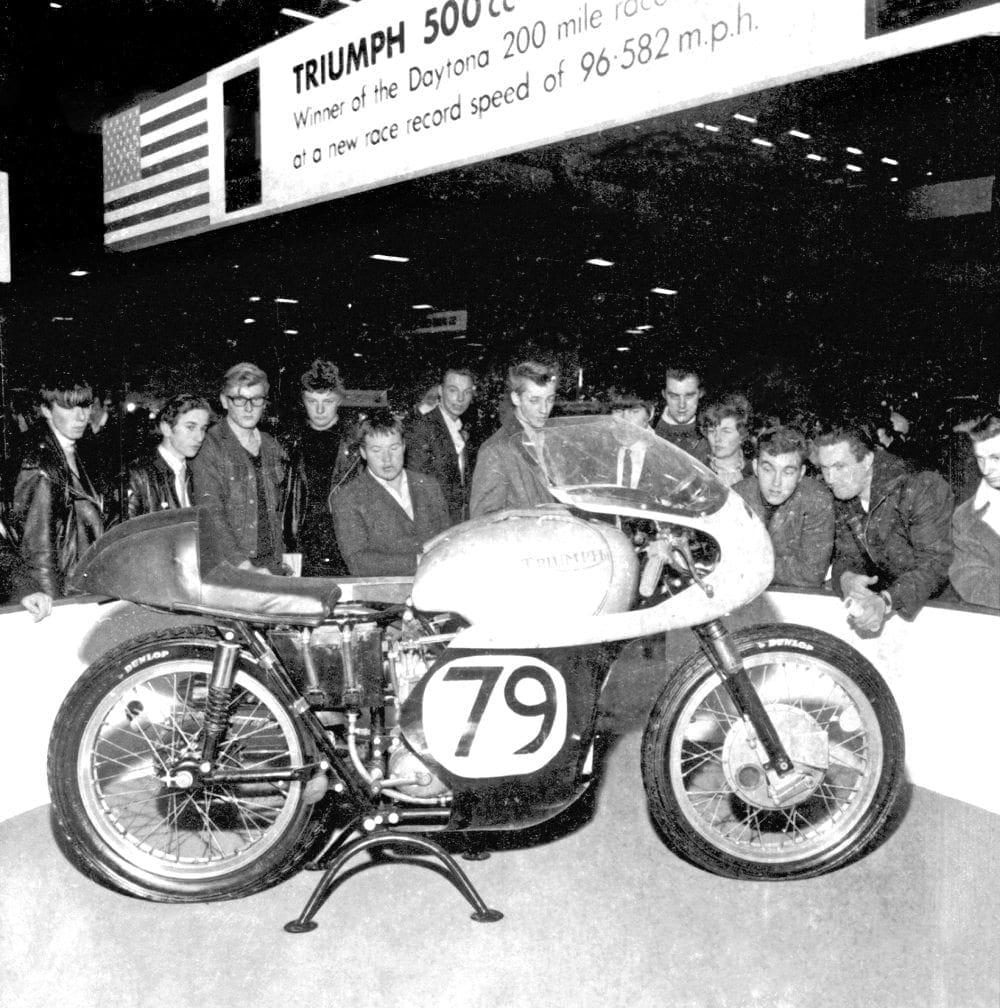 Buddy Elmore's Daytona winning Triumph racer.