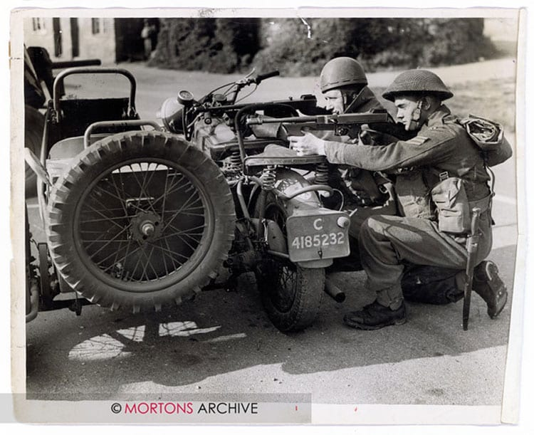 Taking aim, using one of the two-wheel drive Big 4s as cover. Photo: Mortons Archive.