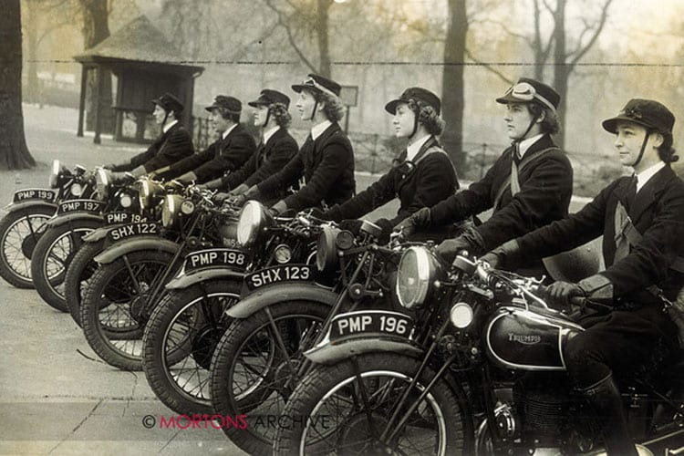 The despatch riders of the women's Royal Naval Service taken in 1941. Photo: Mortons Archive