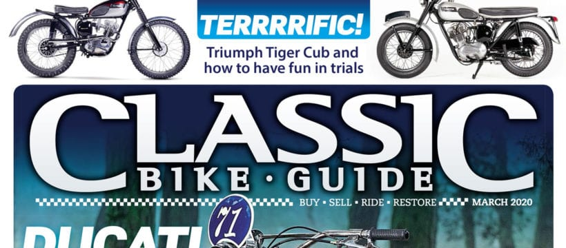 Classic Bike Guide March cover